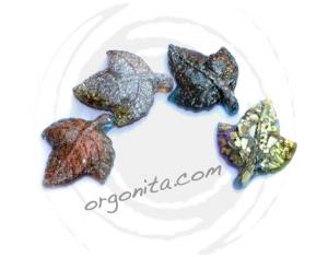 HOJAS - Set de orgonite  (4 piezas)