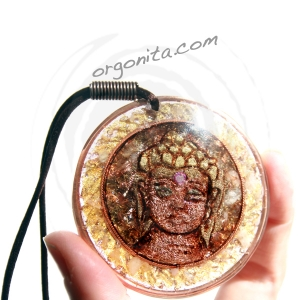 Colgante de Orgonite 3700 - BUDA GOLD - OM