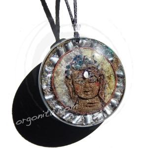 BUDA SILVER - OM - Colgante de Orgonite 3720
