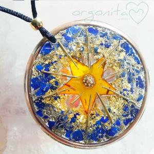 AMBER GOLD STAR - Colgante de Orgonita 5606