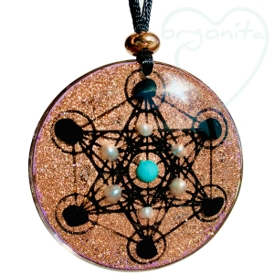 CUBO DE METATRON - Colgante de Orgonite 2207 - PIEZA EXCLUSIVA