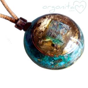 VERDELITA - Colgante de Orgonita 0650