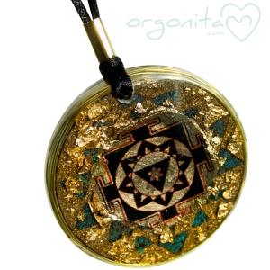 YANTRA GANESHA - Colgante de Orgonite 5050 - PIEZA UNICA