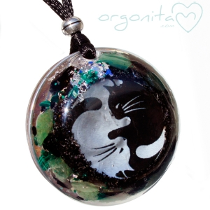 YINYANG CATS - Colgante de Orgonita 3420