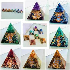 7 CHAKRAS SET | 7 pirámides de orgonita